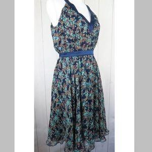 Ted Baker Womens Blue Floral Print Dress